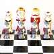 Collectable|Unique Chess Set| Hand Painted| Wooden Chess Set|Unique Gift